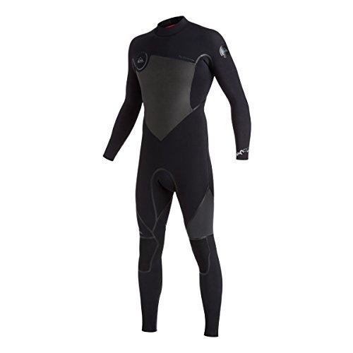 Quiksilver Mens 3/2mm Syncro Back Zip Full Wetsuit, Black...