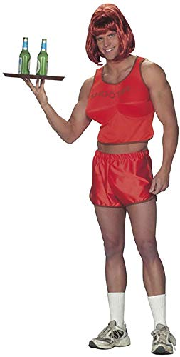 Adult's Hooters Guy Waitress Halloween Costume (Size: Standard 42-46) -