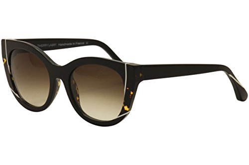 Thierry Lasry Women's Nevermindy Sunglasses, Black Tortoise/Brown, One Size (Thierry Lasry)