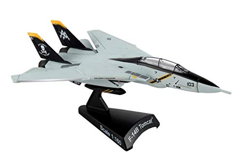 (Daron Worldwide Trading Postage Stamp F-14 Tomcat Vf-103 Jolly Rogers 1/16o Scale Airplane Model)