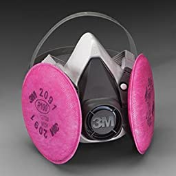 Small 3MTM 6000 Series Half Facepiece Respirator Assembly w/ 3MTM Particulate Filters, P100 (6 Each) - R3-6191
