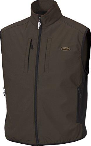 Drake Fleece Vest - Drake Windproof Tech Olive Vest, Large