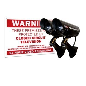 Decoy Cameras and Warning Sign (2 Pack) - Q-See QSSIGD2