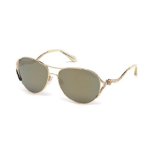 Roberto Cavalli Men's Designer Sunglasses, Shiny Rose Gold/Brown Mirror, ()