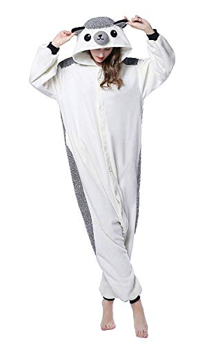 DEKKY Unisex Adult Hedgehog Onesie Pajamas Halloween Costume Sleepsuit Party Wear M -