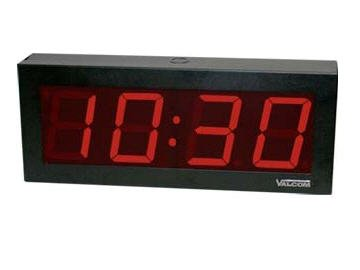 IP PoE 4 Digit 4 Inch Clock (Catalog Category: Audio/Video/Electronics / General Electronics) by Valcom