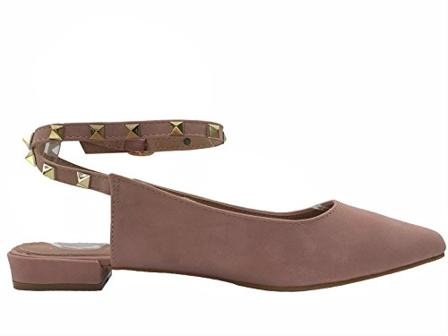 W Collection Donna Slip Toe Slip On Con Cinturino Alla Caviglia Con Tacco Basso