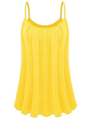 Yellow Tank Top Shirt - 7th Element Womens Plus Size Cami Basic Camisole Tank Top (Yellow,4XL)