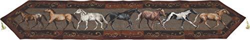 River's Edge Horses Table Runner, 71 x 13