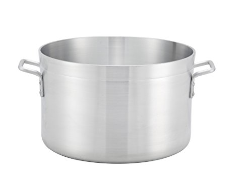 Winco ASHP-60, 60-Quart 20'' x 11'' Extra-Heavy Precision 1/4'' Thick Aluminum Sauce Pot, Commercial Grade Stock Pot, NSF by Winco