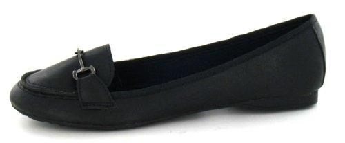 Trim Black Vamp Shoe Spot Metal On Flat wnxOqxY8I