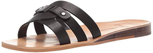 - Dolce Vita Women's CAIT Slide Sandal Black Leather 5 M US