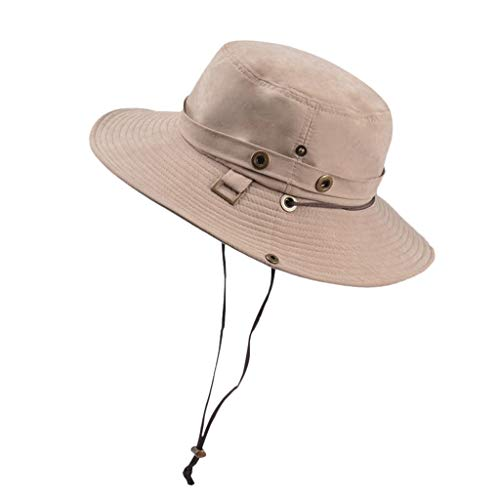 FILOL Fishing Sun Boonie Hat for Men/Women, Summer Waterproof UV Protection Cap Outdoor Hunting Hat ()
