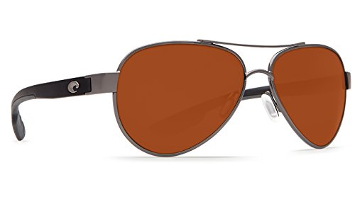 Costa Del Mar LR22OCP Loreto Sunglass, Gunmetal - Glass Costa