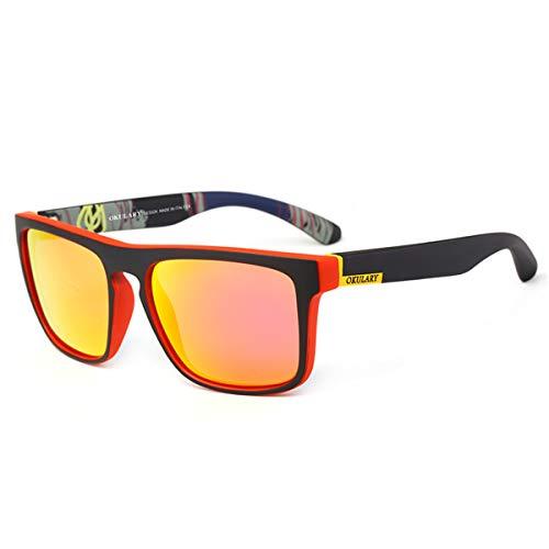 Gafas Sol KOMNY Recubrimiento OKULARY Gafas de F Gafas A Estuche la de sin Diseñador de de Conducción Deportivas Marca de Mujeres polarizadas Reflectante UV400 Hombres 0f86q78Hr