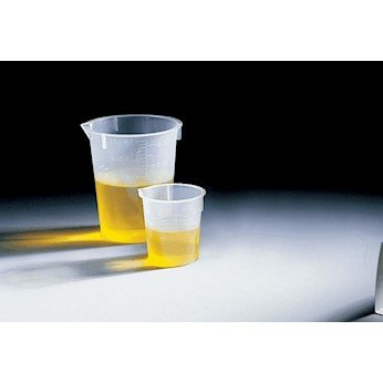 Disposable polypropylene Griffin low-form beakers, 600 mL 25/pk