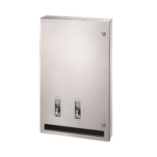 Bradley 407-114300 Surface-mount Sanitary Napkin/Tampon Dispenser, 50 Cents by Bradley
