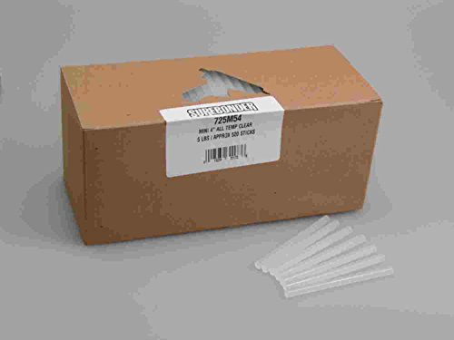 Surebonder 725M4  All Temperature Mini Glue Sticks, Made in the USA, 5/16'' x 4'' Length, 25 lb. Box, Clear, 2825 Sticks (Pack of 2825) by Surebonder