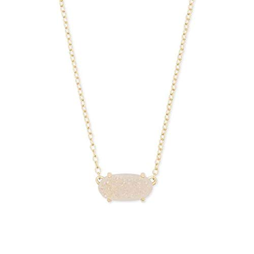 Kendra Scott Ever Gold Pendant Necklace in Iridescent Drusy from Kendra Scott