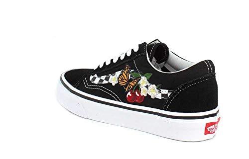 Black Old Ua Vn0a38g1i5z Skoo Checker Vans Floral cFq8O1xqn