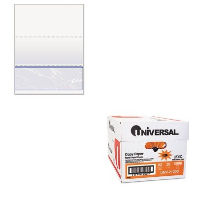 KITPRB04517UNV21200 - Value Kit - DocuGard Standard Security Marble Business Bottom Check (PRB04517) and Universal Copy Paper (UNV21200)