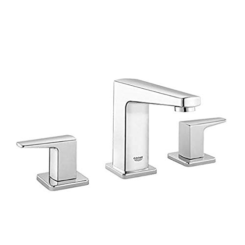 (GROHE Tallinn 8 in. Widespread Two-Handle Bathroom Faucet in Starlight Chrome)