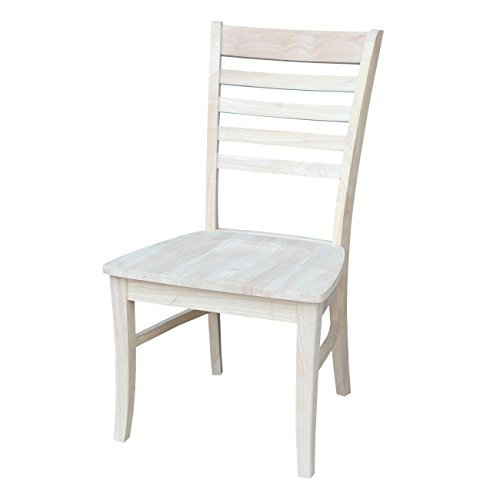 International Concepts C 310P Roma Ladder Back Chair, Unfinished
