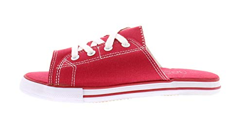 Ace Lace Up Sandals for Women,Athletic Slide Sandals,Canvas Shoes,Sports Slides Red