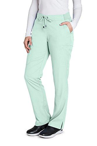 Grey's Anatomy 4277 Straight Leg Pant Aqua Mist S (Blue Mist Apparel)