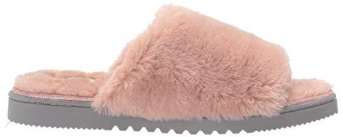Dearfoams Women's Plush faux shearling Slide with Suede Trim Slipper