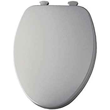 Church 585 White Elongated Closed Front Wood Toilet Seat With Cover