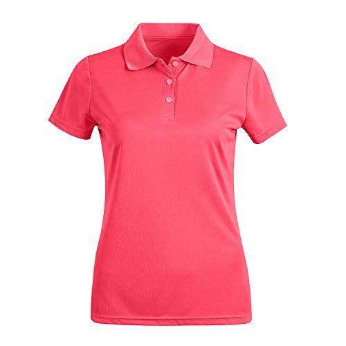 MOHEEN Women's Short Sleeve Polo Shirts Moisture Wicking Athletic Golf Polo Pink ()