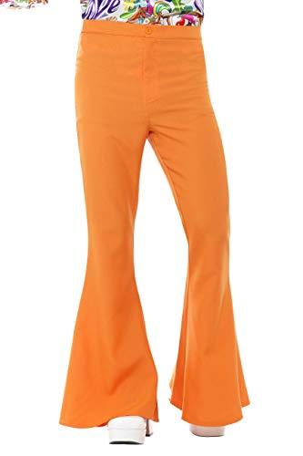 Smiffy's Flared Trousers Man, Orange, ()