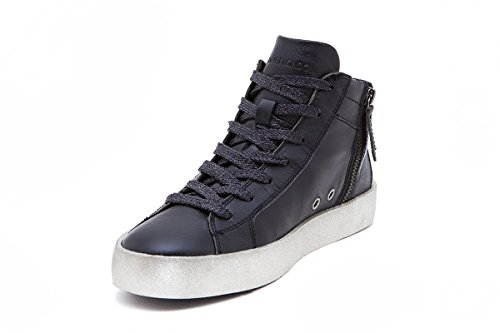 Crime London Sneakers Collezione Donna Pelle Art Alta Fw17 25115a17b20 Nera In Da Wvv7n