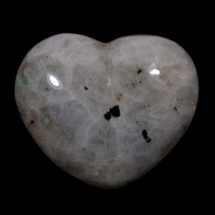 Moonstone Rainbow Crystal Heart ~45mm