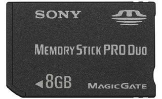 Sony Memory Stick Pro Duo 8GB Memoria Flash MS - Tarjeta de ...