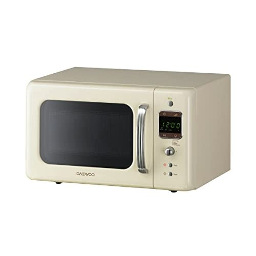 Daewoo KOR7LBKC Retro Style Microwave Oven, 20 L, 800 W, Cream