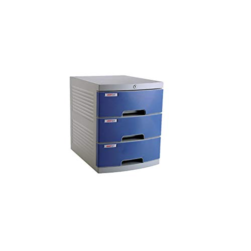 LQQFF Suministros de Oficina Archivador de Escritorio con cajonera Armario de almacenaje (Color : Azul)