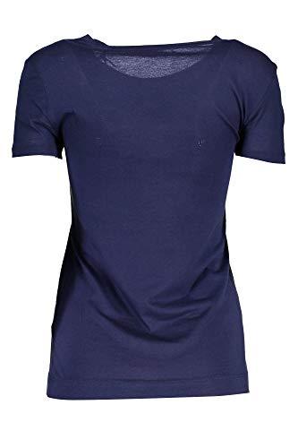 Corte shirt Guess Maniche Donna Blu Jeans W84i67k7wa0 Nfbl T FwRqXcaUR