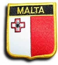 Malta Flag Patch Badge (Maltese Crest, 2.75