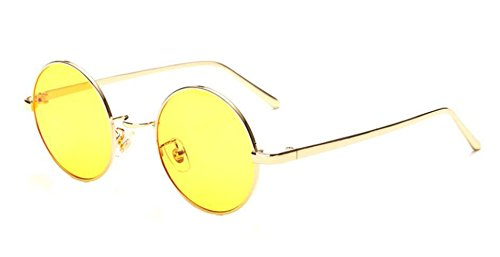 Las Compras Gafas Vintage Mujeres Gold Hombres Los Gafas De Redondo De Sol De Viaje De Sol Marco De De EgxRq4wn