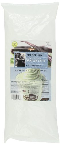 MOCAFE Frappe Vanilla Latte, No Sugar Added Ice Blended Coffee, 3-Pound Bag (Mix Blended Ice Coffee)