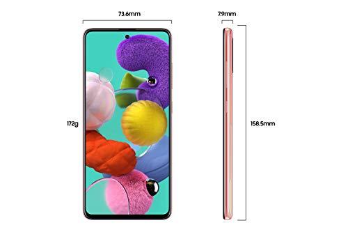 Samsung Galaxy A51 Dual SIM 128GB 6GB RAM 4G LTE (UAE Version) - Pink - 1 year local brand warranty