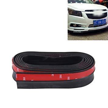 Uniqus Universal 2.5m Car Front Bumper Lip Splitter Spoiler Skirt Adhesive Predector(Black)