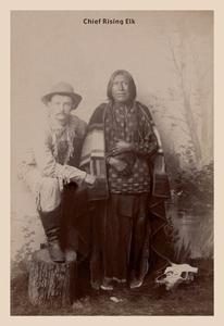- Chief Rising Elk Fine art Giclee canvas print (20 x 30)