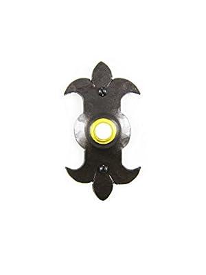 Spanish Fleur De Lis Iron Doorbell Cover D2