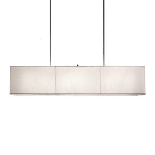 Generic Modern 6 Lite Rectangular Ivory Shade Chandelier Lighting Fixture Dia 47″