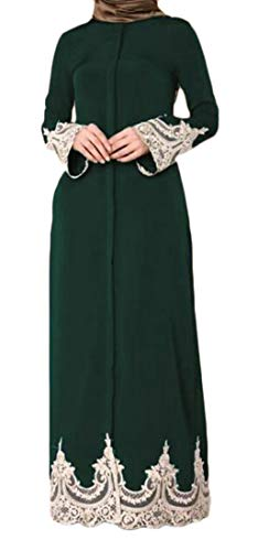 Women's Muslim One Cocktail Maxi Plus Size Sleeve Stylish Long Domple Lace Dress qdHtwq