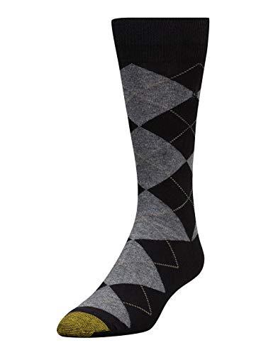 - GOLD TOE Men's Argyle Crew Socks Black 10-13