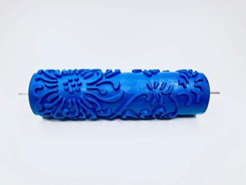 "Patterned Paint Roller - Chrysanthemum Pattern - 7"" Decorative Art Roller"